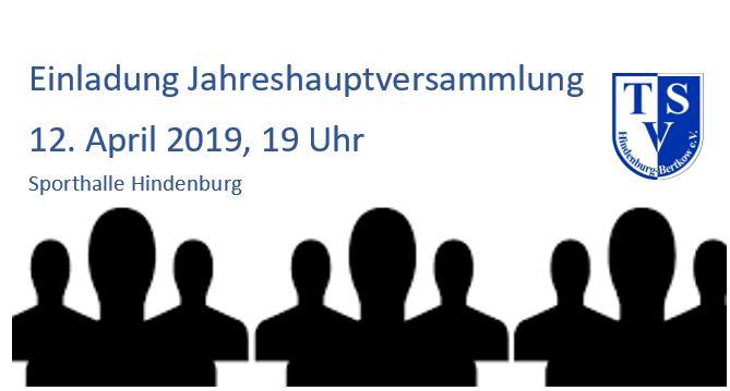 Jahreshauptversammlung 2019 @ Turnhalle Hindenburg
